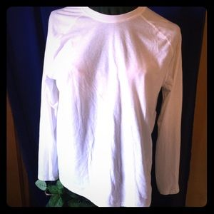 Long Sleeve White Shirt by Athletic Works, Size L